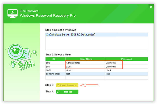 đặt password cho windows server 2008