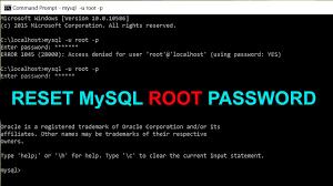 Cách đơn giản để khôi phục mật khẩu root mysql